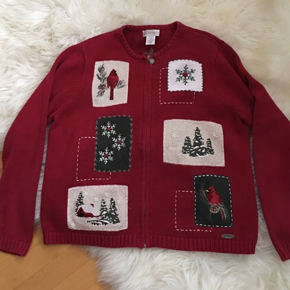 Northern Reflections Vintage  Holiday Cardigan